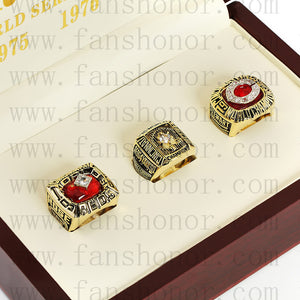 Customized Cincinnati Reds MLB Championship Rings Set Wooden Display Box Collections