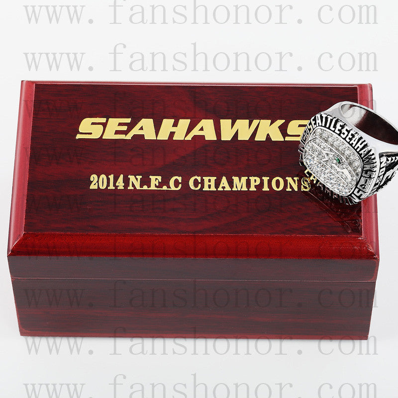 Customized NFC 2014 Seattle Seahawks National Football Championship Ring