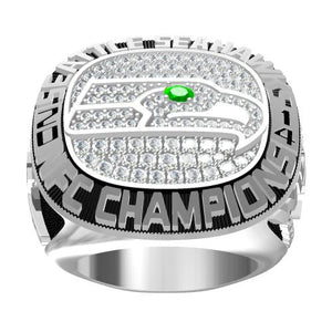 Custom 2014 Seattle Seahawks National Football Championship Ring