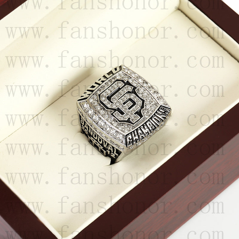 Customized MLB 2012 San Francisco Giants World Series Championship Ring