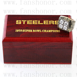 Customized Pittsburgh Steelers NFL 1979 Super Bowl XIV Championship Ring