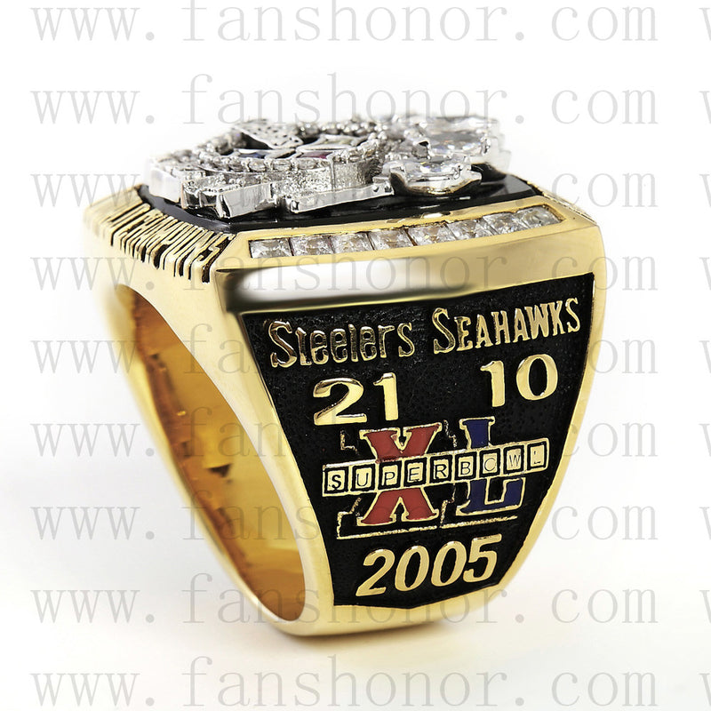 Customized Pittsburgh Steelers NFL 2005 Super Bowl XL Championship Ring