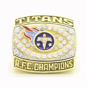 Custom 1999 Tennessee Titans American Football Championship Ring