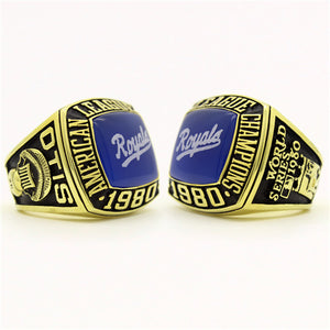 Custom Kansas City Royals 1980 American League Championship Ring With Blue Turquoise