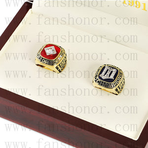 Customized Minnesota Twins MLB Championship Rings Set Wooden Display Box Collections