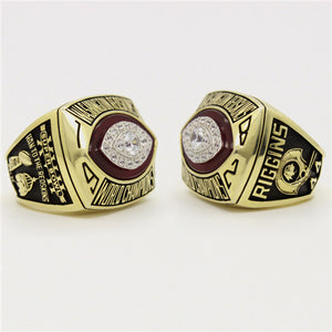 Custom Washington Redskins 1982 NFL Super Bowl XVII Championship Ring
