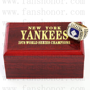 Customized MLB 1978 New York Yankees World Series Championship Ring