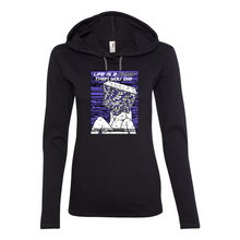Load image into Gallery viewer, Life Is A Glitch Then You Die Women's Lightweight Hooded T-Shirt