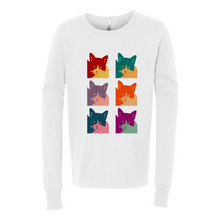 Load image into Gallery viewer, Cat's Today 6-Panel BELLA + CANVAS 3501Y Youth Jersey Long Sleeve Tee