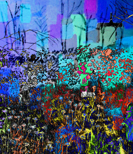 A Field of Flowers Impressionistic Pop Art Print
