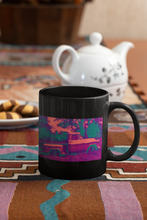 Load image into Gallery viewer, 1957 Chevrolet Apache Pickup truck Pop Art black coffee mug.