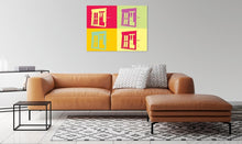 Load image into Gallery viewer, Barn window abstract pop art canvas print.