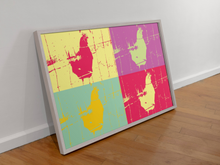 Load image into Gallery viewer, Andy Warhol Chicken Pop Art Canvas Print