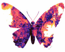 Load image into Gallery viewer, Butterfly pop art print.