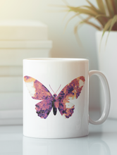 Load image into Gallery viewer, Butterfly pop art coffee mug.