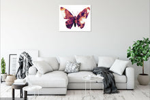 Load image into Gallery viewer, Butterfly pop art canvas print.