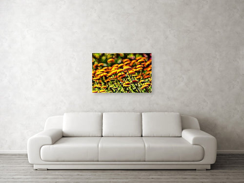 Button flowers abstract pop art canvas print.