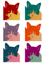 Load image into Gallery viewer, Andy Warhol 6-panel Cat Pop Art Print white background
