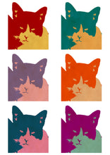 Load image into Gallery viewer, Cats today 6-panel pop art print.