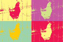 Load image into Gallery viewer, Andy Warhol 4-panel Chicken Pop Art Print