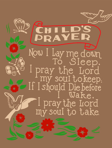 Child's Prayer Pop Art Print.