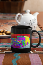 Load image into Gallery viewer, Coleman's Milk Truck # 14 digital Pop Art black coffee mug.