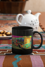 Load image into Gallery viewer, Coleman's Milk Truck # 15 digital Pop Art black coffee mug.