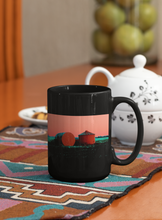 Load image into Gallery viewer, Grain Silos Digital Pop Art Black Coffee Mug.