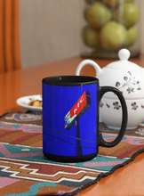 Load image into Gallery viewer, Kentucky fried chicken abstract Pop Art black coffee mug.