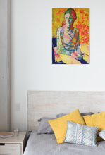 Load image into Gallery viewer, Mary Jane adolescent female pop art canvas print.