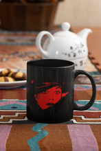 Load image into Gallery viewer, Mona Digital Pop Art Black Coffee Mug.