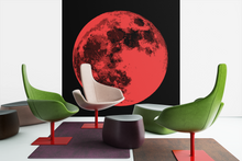 Load image into Gallery viewer, Contemporary full moon pop art canvas print.