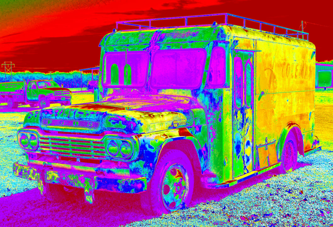 Coleman's milk truck pop art print.
