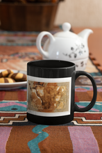 Load image into Gallery viewer, Nairobi digital abstract Pop Art black coffee mug.