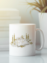 Load image into Gallery viewer, Christmas holiday white coffee mug.