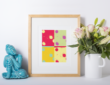 Load image into Gallery viewer, Dominoes abstract pop art canvas print.