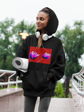 Load image into Gallery viewer, Red Tulips Women's Cali Fleece Pullover Hoodie