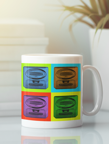 Sega Genesis Modern Pop Art Coffee Mug.