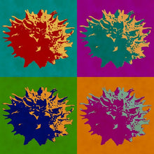 Load image into Gallery viewer, Sweet Gum Balls Abstract Pop Art print.