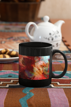 Load image into Gallery viewer, The Norsemen abstract Pop Art Black coffee mug.