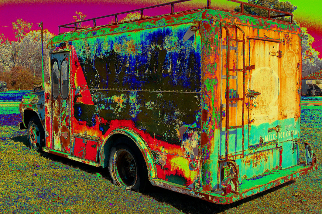 Coleman's milk truck # 14 pop art print.