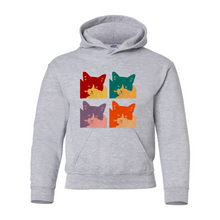 Load image into Gallery viewer, Cats Today Heavy Blend Youth Hooded Sweatshirt