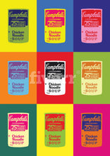 Load image into Gallery viewer, Campbell's Soup Can 6-Panel Modern Pop Art Canvas Print