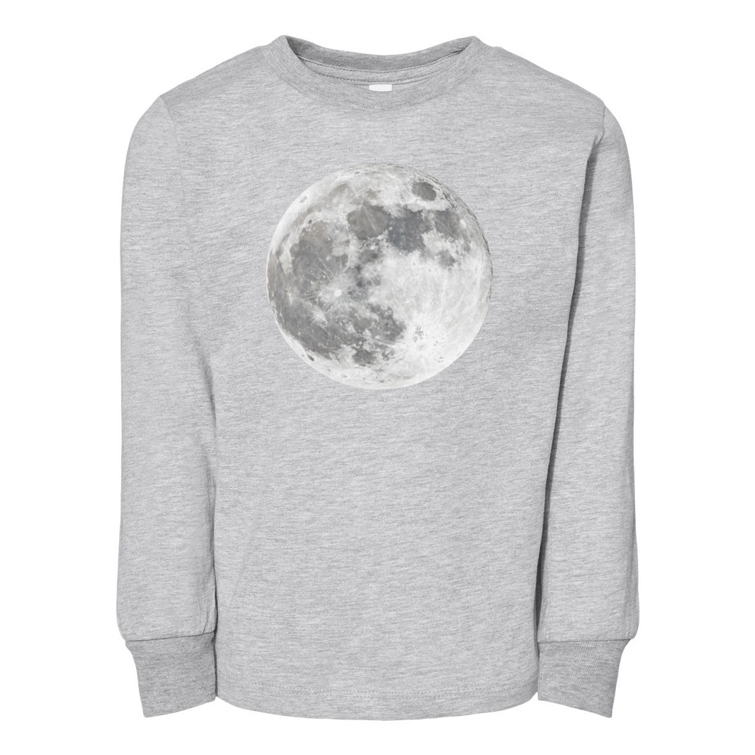 Contemporary Moon BELLA + CANVAS Toddler Jersey Long Sleeve Tee