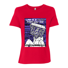 Load image into Gallery viewer, Life Is A Glitch Then You Die BELLA Women's Relaxed Jersey Tee