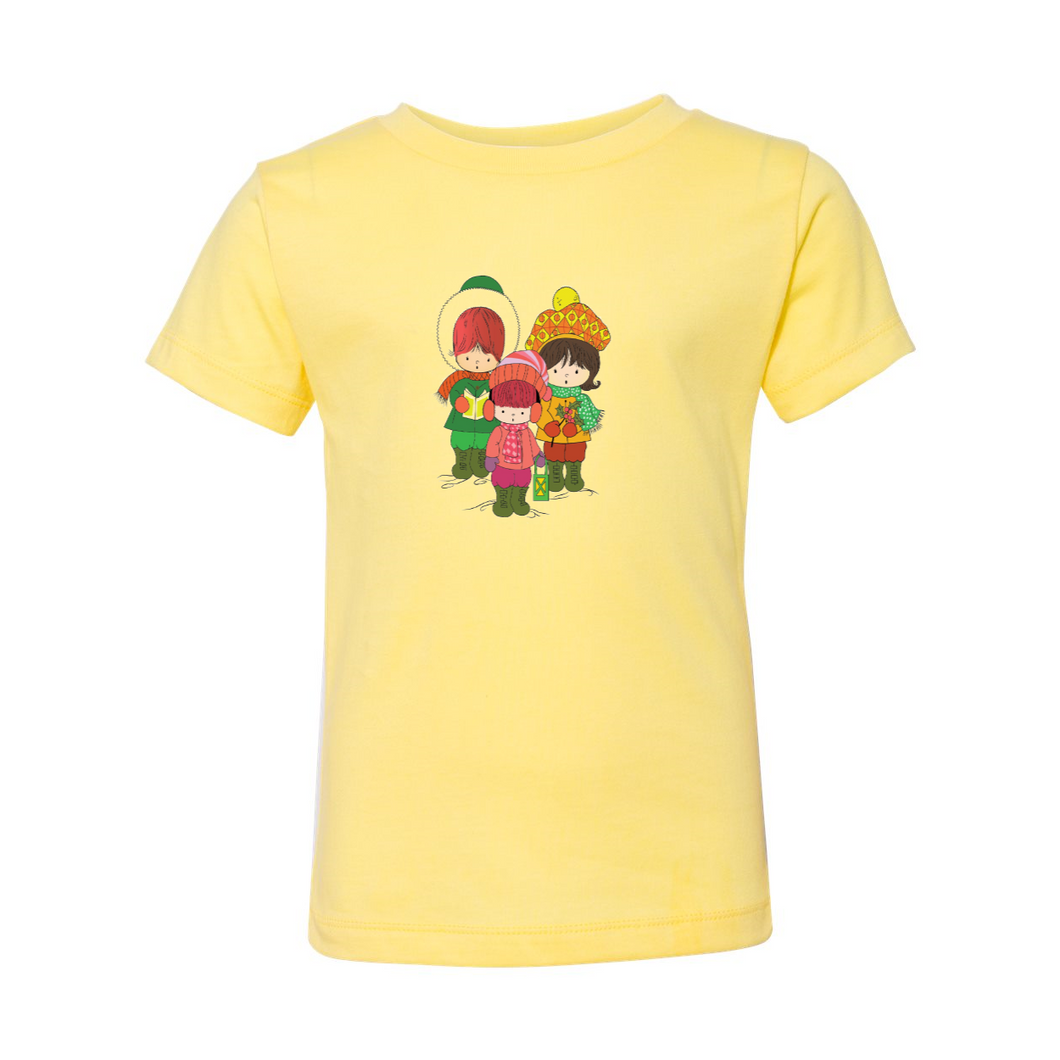 Three Christmas Carolers Toddler Short Sleeve Tee