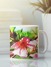 Load image into Gallery viewer, Lakeside flowers # 2 abstract pop art coffee mug.
