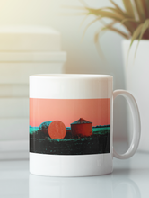 Load image into Gallery viewer, Grain silos pop art coffee mug.