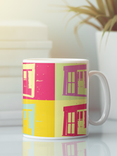 Load image into Gallery viewer, Barn window abstract pop art coffee mug.