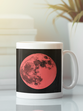 Load image into Gallery viewer, Contemporary full moon pop art coffee mug.